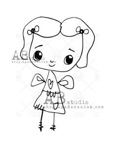 Sello de caucho TandiArt fairy ID-402 de AB Studio