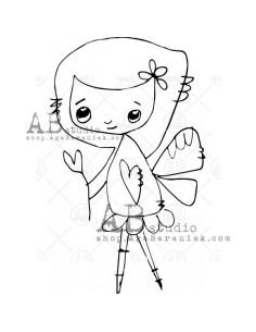 Sello de caucho TandiArt fairy ID-399 de AB Studio