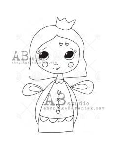 Sello de caucho TandiArt fairy ID-1272 de AB Studio