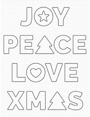 Troquel Joy, Peace, Love de My Favorite Things