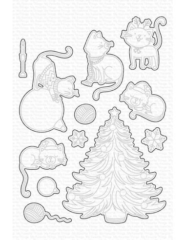 Troquel Meowy Christmas de My Favorite Things