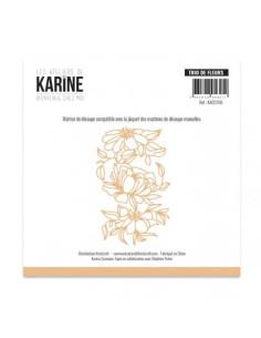 Troquel Bienvenue chez moi Trio de fleurs de Karine