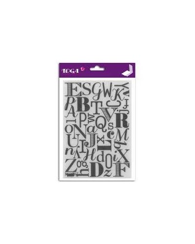 Carpeta relieve Alphabet de Toga