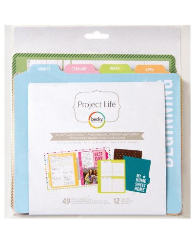 Relleno planificador semanal Project Life Journal