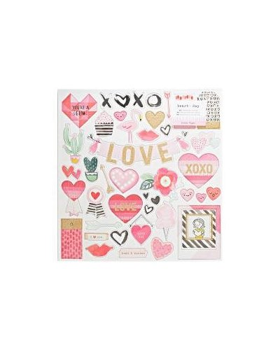 CHIPBOARD crate paper heart day