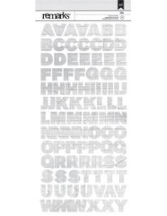 Pegatinas remarks alfabeto gris