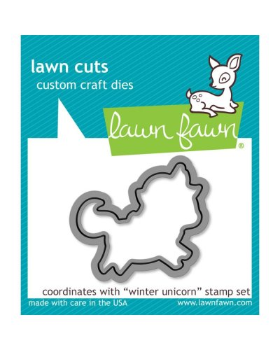 Lawn Fawn Winter Unicorn dies