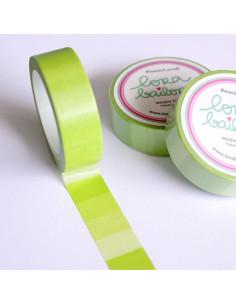 Washi Lora verde pistacho degradado