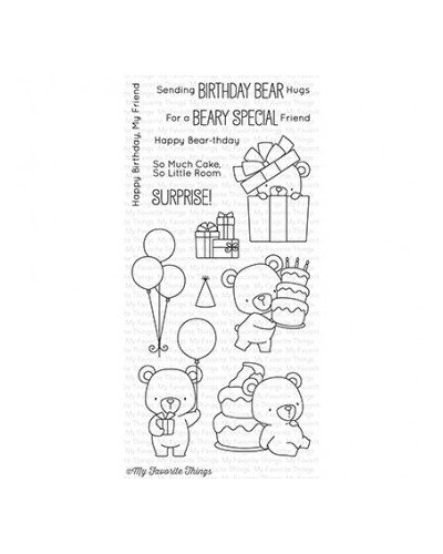 Sello mft Beary Special Birthday