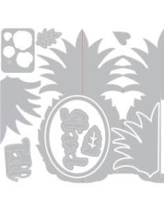 Thinlits sizzix, Card Pineapple fold a long