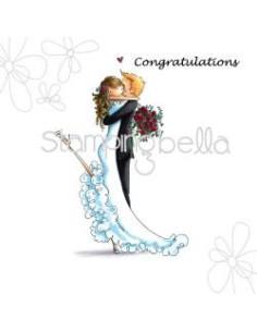 Sello Stampingbella Brett and Brenda get married