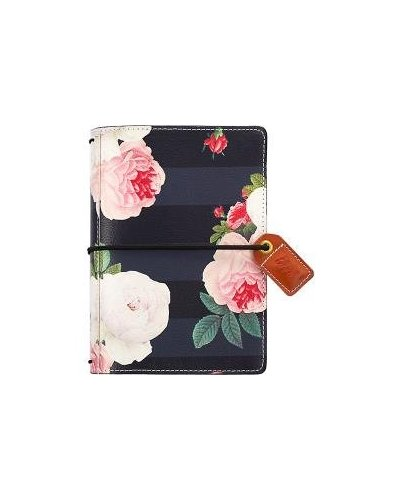 Agenda Webster's Pages Black Floral Pocket