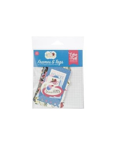 Die cuts Echo Park Alice in Wonderland Frames&Tags