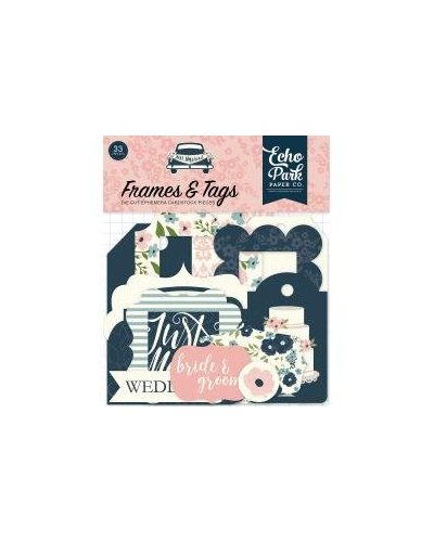Die cuts Echo Park Just Married Frames&Tags
