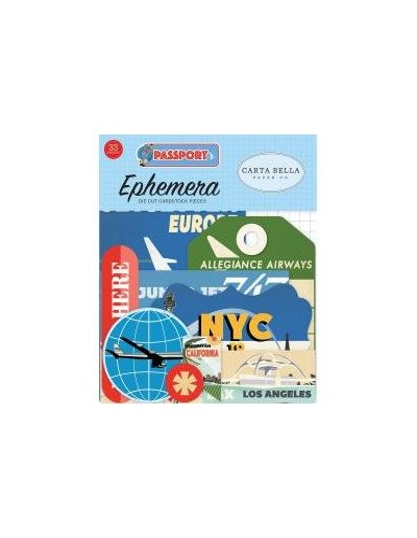 Die cuts Carta Bella Passport Ephemera