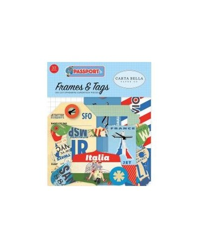 Die cuts Carta Bella Passport Frames&Tags