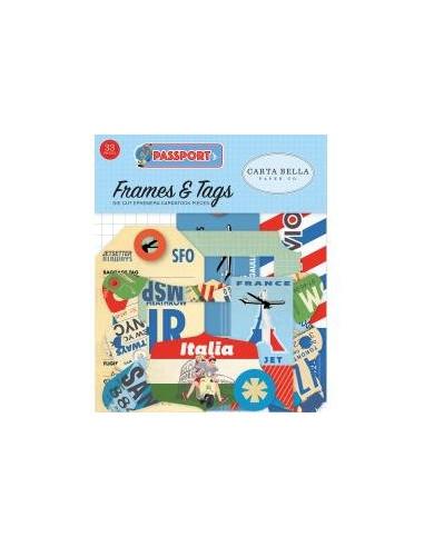 Die cuts Carta Bella Passport Frames&Tags