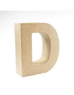 Letra cartón Kraft D