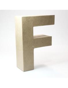 Letra cartón Kraft F