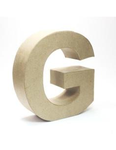 Letra cartón Kraft G