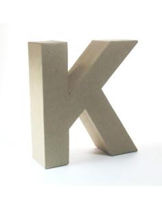 Letra cartón Kraft K