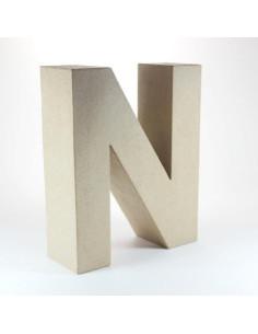 Letra cartón Kraft N