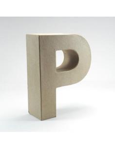 Letra cartón Kraft P
