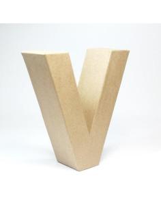 Letra cartón Kraft U