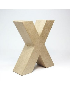 Letra cartón Kraft V