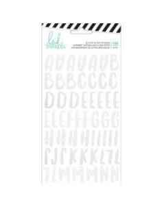 Pegatinas Heidi Swapp alfabeto Glitter blanco