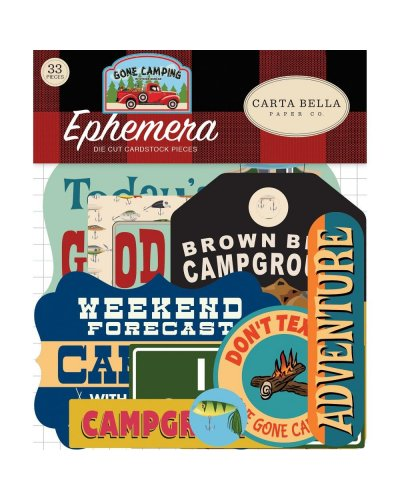 Die cuts Carta Bella Gone Camping Ephemera