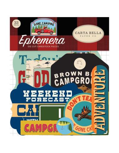 Die cuts Carta Bella Pack Your Bags Ephemera