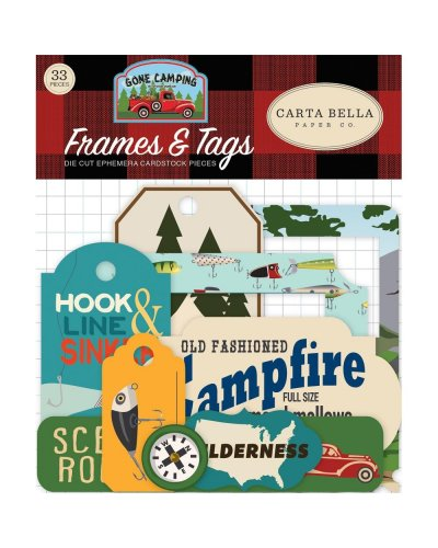 Die cuts Carta Bella Gone Camping Frames & Tags