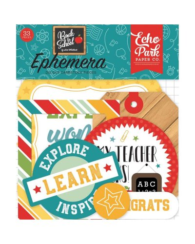 Die cuts EchoPark Back To School Ephemera