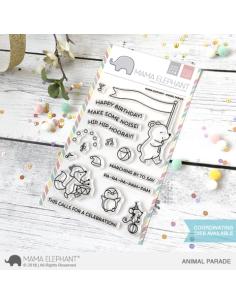 Mama Elephant sello A beary Christmas