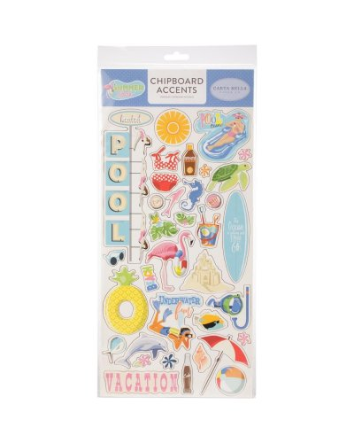 Chipboard CartaBella Summer Splash 6x12""