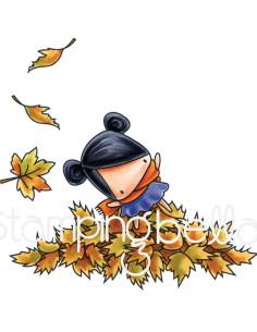 Sello Stampingbella Jugando en las hojas