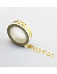 Washi Lora Gracias con foil