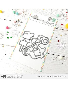 Mama Elephant Santa´s sleigh sello