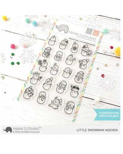 Mama Elephant Little Snowman agenda sello
