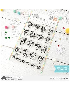 Mama Elephant Little Snowman agenda sello