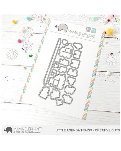 Mama Elephant Little agenda trains sello