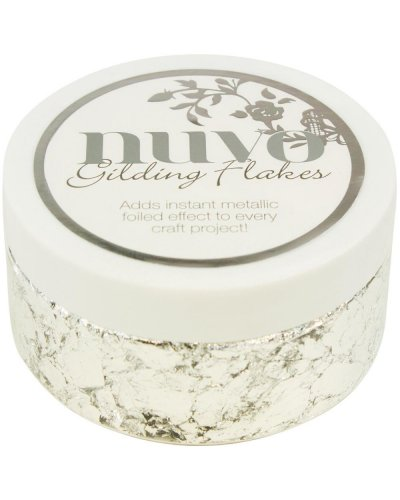 Nuvo Gilding Flakes Silver Button