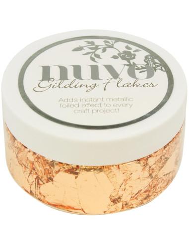 Nuvo Gilding Flakes Silver Button