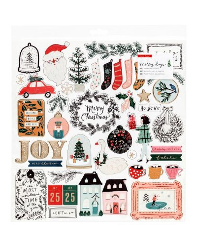 chipboard Crate Paper Merry Days