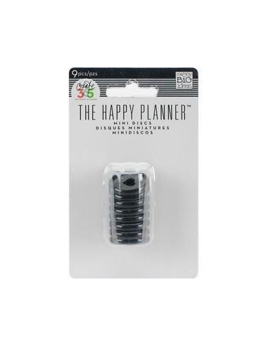 Happy planner anillas medianas negro