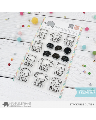 Mama Elephant sello stackable cuties