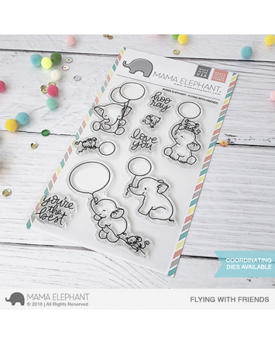 Mama Elephant sello color me letters