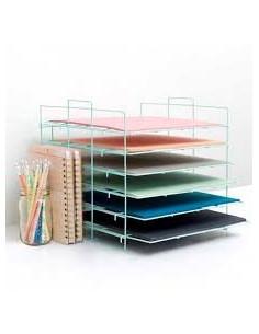 organizador papeles mint de crate paper