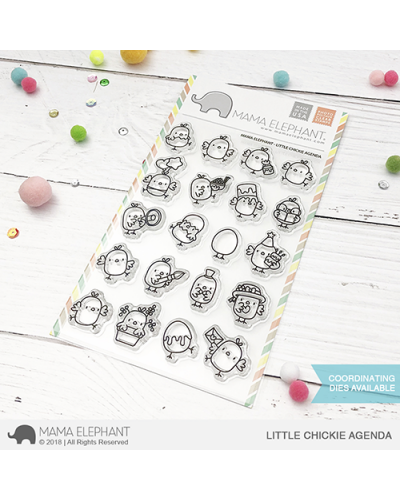 Mama Elephant sello little fairy agenda